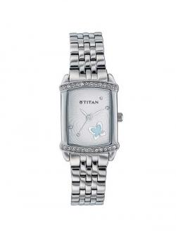 Titan Silver Dial Women's Watch