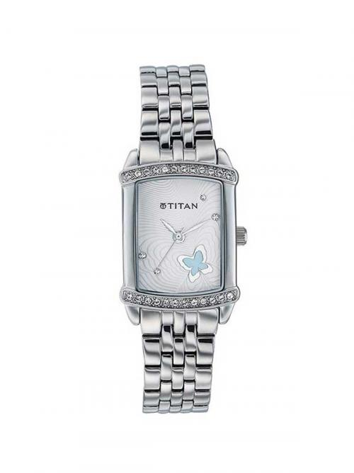 Titan Silver Dial Women's Watch