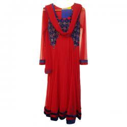 Red Net Anarkali Suit (SC-875)