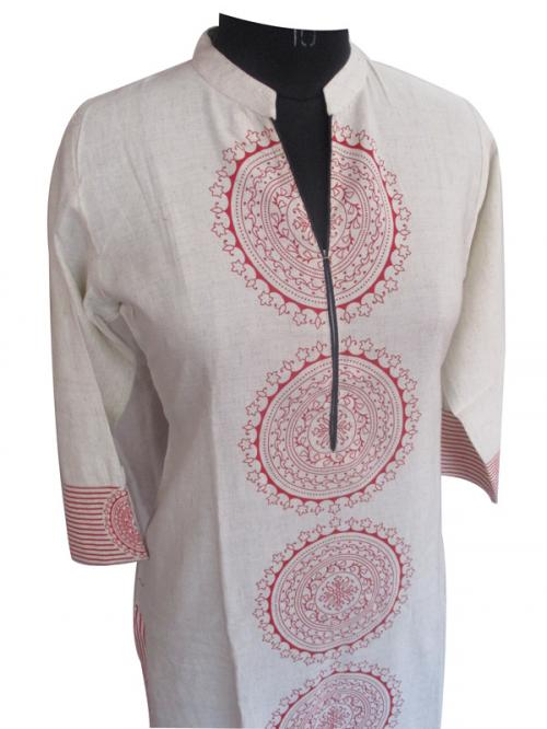 Pure Khadi Cotton Kurti Tops