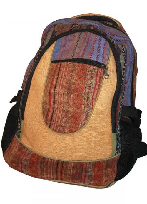 Blue Mixed Color Cotton Hemp Jute Silk bag (DT-HB-011)