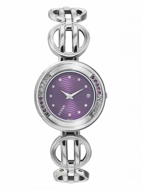 Titan Metal Strapped Pink Watch