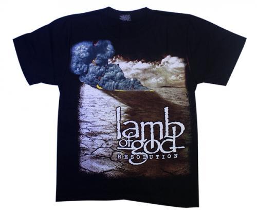 Black Lamb of God Printed T-Shirt