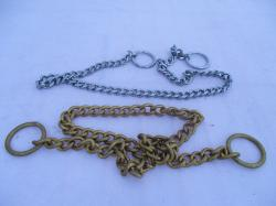 Gold choke chain - dog training collar