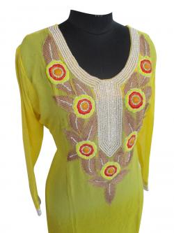 Pure Georgette Kurti With Sequence