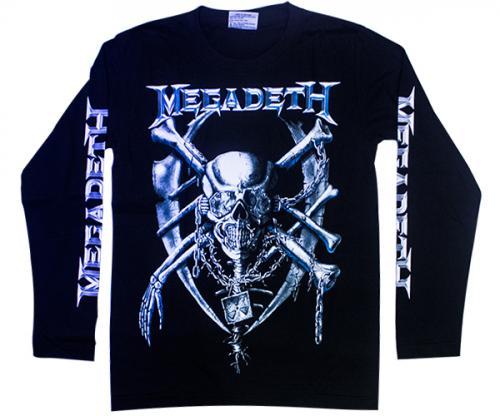 Black MegaDeth Printed Full T-Shirt