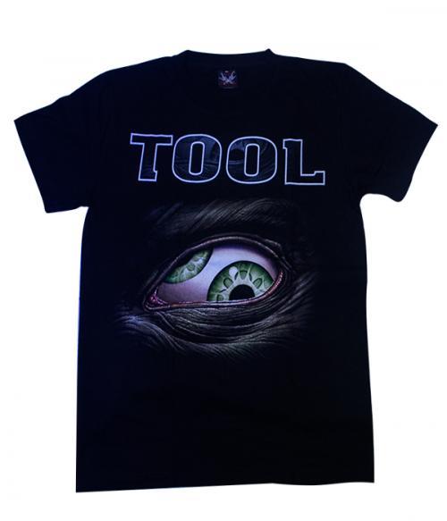 Black Tool Printed Metal T-Shirt