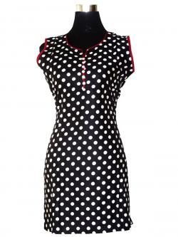 Black & White Spotted Kurti - (SARA-018)