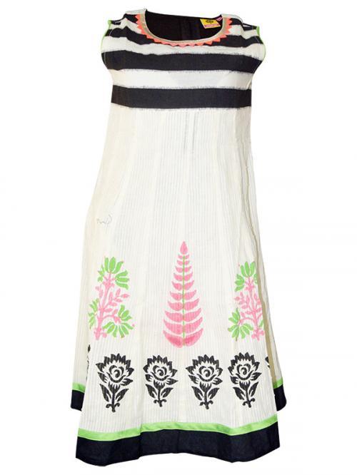 Black & White Umbrella Style Kurti - (SARA-015)
