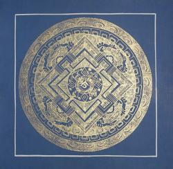 Blue Color Mandala (21cmx21cm)