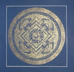 Blue Color Mandala (21cmx21cm)