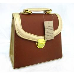Brown Designed Side Bag For Ladies - (LAC-023)