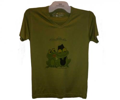 Couple of Frog Printed T-Shirt