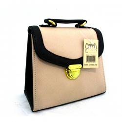 Cream Color Side Bag For Ladies - (LAC-024)