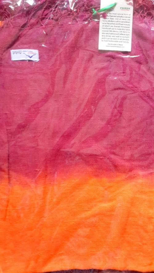 Cutwork Maroon Orange SILK shawl
