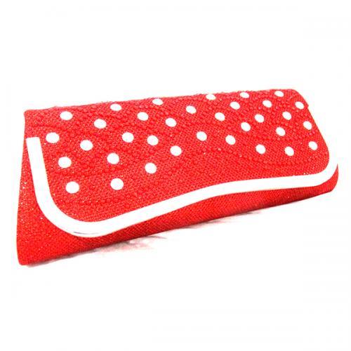 Dark Red Designed Purse For Ladies