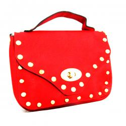 Dark Red Mini Mobile Bag - (LAC-020)