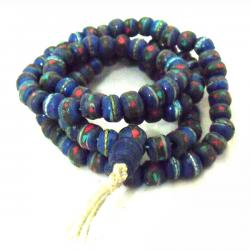 Blue Yak Bone Stone Mala - (NH-025)