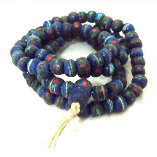 Blue Yak Bone Stone Mala - (NH-025)