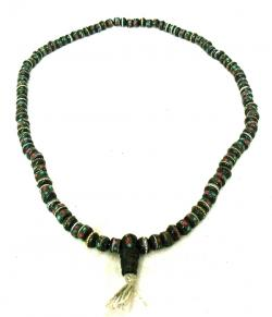Black Yak Bone Beads Mala - (NH-027)