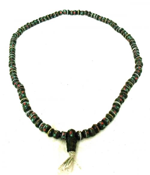 Black Yak Bone Beads Mala - (NH-027)