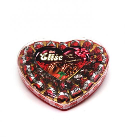 Elise Truffle Big Heart Box Strawberry (180grm)