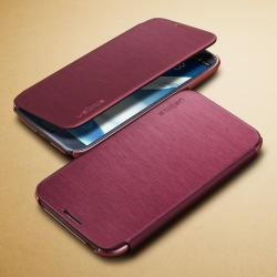 Galaxy Note 2 Case Ultra Flip Metallic Wine - (OS-099)