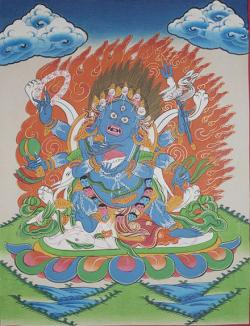 God Mahakala Thanka (27cmx36cm)