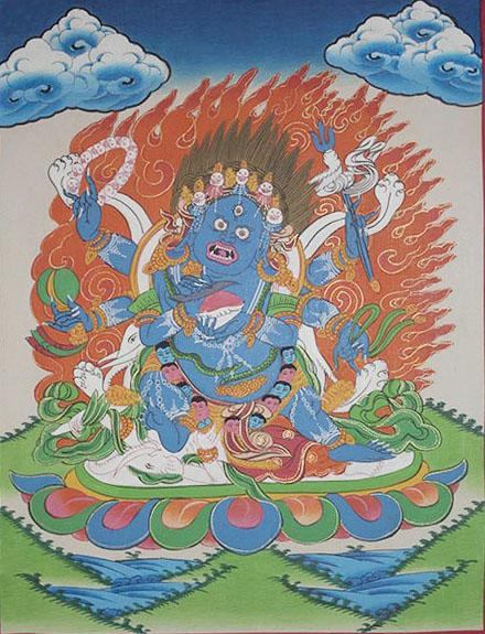 God Mahakala Thanka (27cmx36cm)