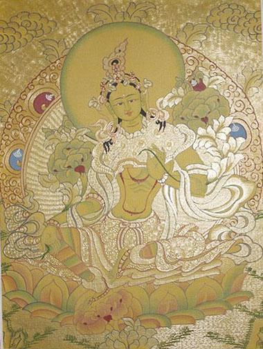 Green Tara Thanka (23cmx30cm)