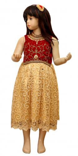 Girl's Frock Style Dress - (JU-041)