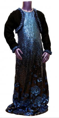 Girl's Long Shiny Dress - (JU-042)