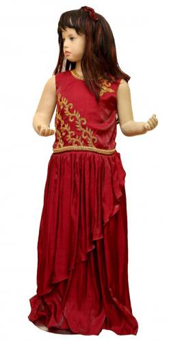 Maroon Color Long Dress For Girls - (JU-044)