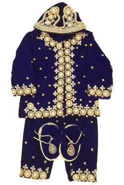 Baby's Pashni Set-Blue - (JU-015)