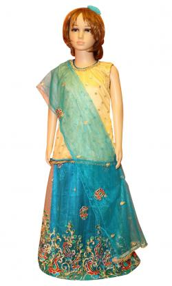 Girl's Lehenga Style Dress - (JU-046)