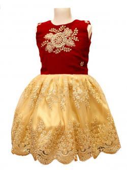 Girl's Frock Style Dress - (JU-048)