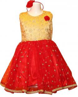 Girl's Frock Style Dress - (JU-049)