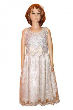 Girl's Frock Style Long Dress - (JU-051)