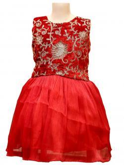 Girl's Frock Style Dress - (JU-054)