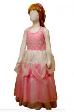 Pink Color Long Dress For Girls - (JU-058)