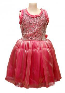 Girl's Frock Style Dress - (JU-061)
