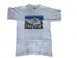 White T-Shirts (Annapurna Nepal) - 100% Cotton