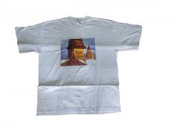 White T-Shirts (swyambhu eye in middle) - 100% Cotton