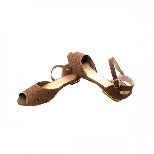 Stylish Brown Peeptoe Ballerinas for ladies - ( MS-036)