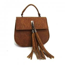 Light Brown Side Bag With Laces