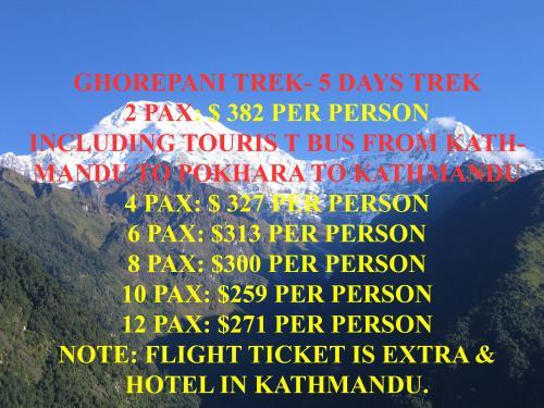 Ghorepani Trekking - Cheap cost