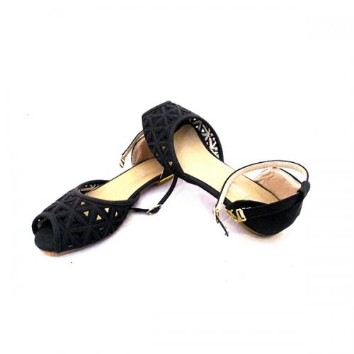 Stylish Black Peeptoe Ballerinas for ladies - ( MS-032)