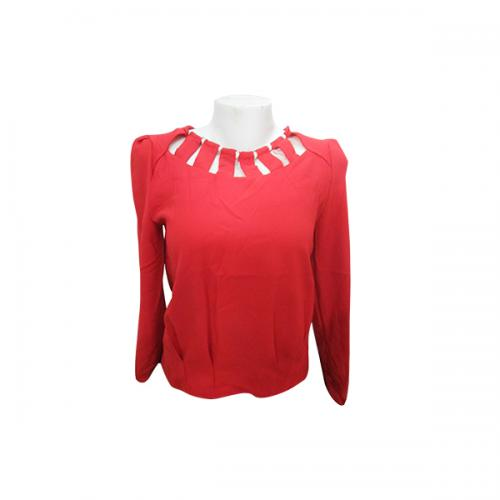 Cotton Red Color Full Sleeve T-Shirt - (EL-006)