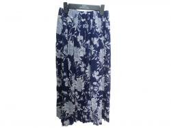 Long Printed Divided Skirt