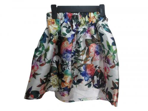 Short Floral British Skirt